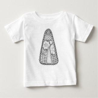Masquerade Candy Corn Line Art Design Baby T-Shirt