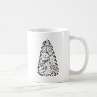 Masquerade Candy Corn Line Art Design Coffee Mug