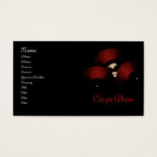 Masquerade Carpe Diem Business Cards