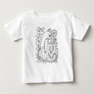 Masquerade Cat Pumpkin Line Art Design Baby T-Shirt