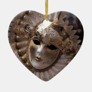 Masquerade Ceramic Heart Decoration