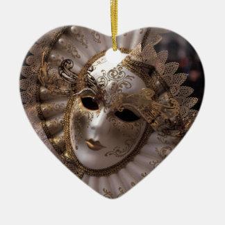 Masquerade Ceramic Ornament
