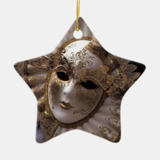Masquerade Ceramic Star Decoration