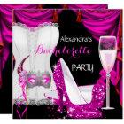 Masquerade Champagne Bachelorette Corset Pink Card