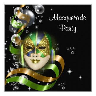 Masquerade costume mask PERSONALIZE Invite