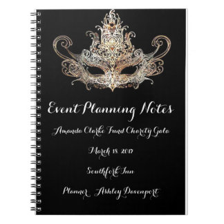 Masquerade Event Planner Notes Note Book