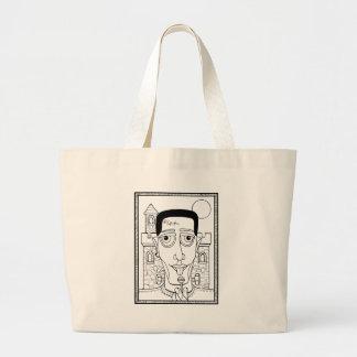 Masquerade Frank Line Art Design Large Tote Bag