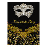 Masquerade Gold Black Hot Glamour Birthday Party Personalized Invites