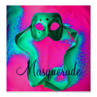 """""""Masquerade I"""" Poster - Customizable Posters"""