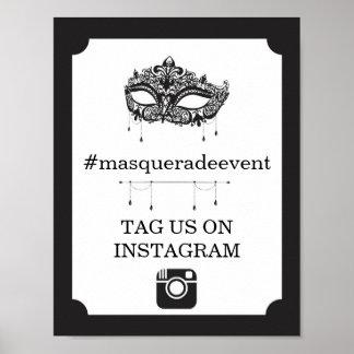 Masquerade Instagram Sign Photo Insta Event Party