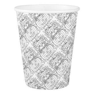 Masquerade Jack O Lantern Paper Cup