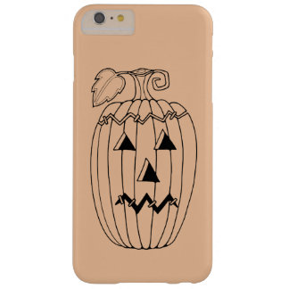 Masquerade Jack O Lantern Two Line Art Design Barely There iPhone 6 Plus Case