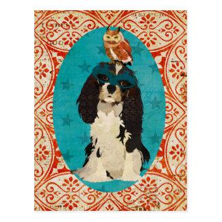 Masquerade King Cavalier & Owl Postcard
