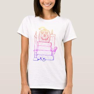 Masquerade Library Line Art Design T-Shirt