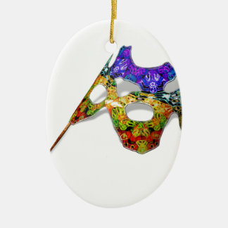 Masquerade Mask Ceramic Oval Decoration