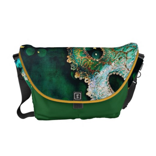 Masquerade Mask Costume Halloween Bag Tote Purse Messenger Bags