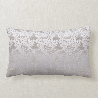 Masquerade Mask Pattern Lumbar Pillow
