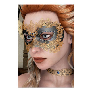 Masquerade Mask Print