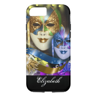 Masquerade masks girls name PERSONALIZE iPhone 7 Case