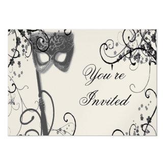 Masquerade Mystique  BW Invitation