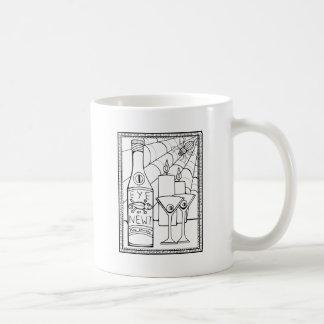 Masquerade Newt Martini Line Art Design Coffee Mug