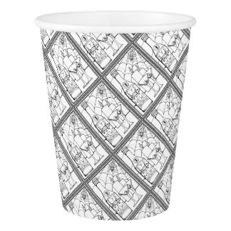 Masquerade Newt Martini Line Art Design Paper Cup