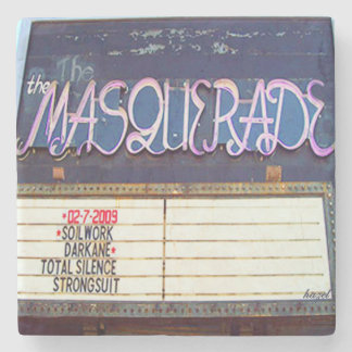 Masquerade, Old Fourth Ward, Atlanta Marble Stone Stone Coaster