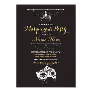Masquerade Party Birthday Event Mask Invite