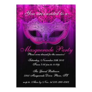 Masquerade Party Celebration Pink & Purple Invite