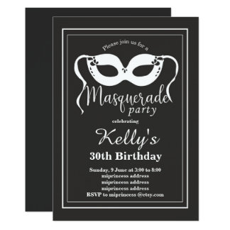 MASQUERADE Party Invitation