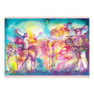 MASQUERADE PARTY,MARDI GRAS MASKS,DANCE ,MUSIC CARD