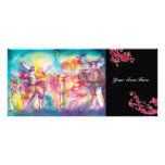 MASQUERADE PARTY,Mardi Gras Masks,Dance,Music Full Color Rack Card