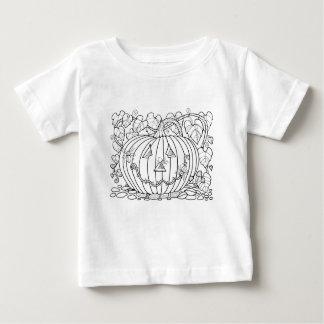 Masquerade Pumpkin Spiders Line Art Design Baby T-Shirt