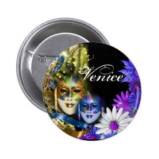 Masquerade quinceanera Venetian masks 6 Cm Round Badge