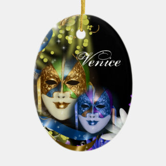 Masquerade quinceanera Venetian masks Ceramic Oval Decoration