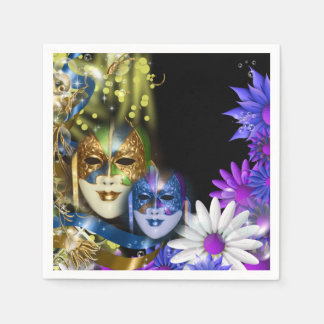 Masquerade quinceanera Venetian masks Disposable Serviettes