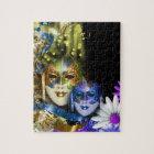 Masquerade quinceanera Venetian masks Jigsaw Puzzle