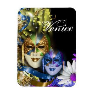 Masquerade quinceanera Venetian masks PERSONALIZE Rectangular Photo Magnet