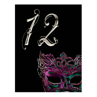 Masquerade Table Number Postcard