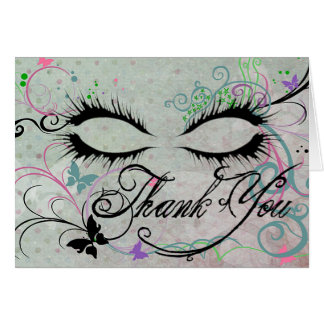 Masquerade Thank You Note Card