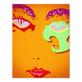 MASQUERADE THEME INVITATION ABSTRACT ROUGESQUE