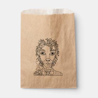 Masquerade Werewolf Lollipop Line Art Design Favour Bags