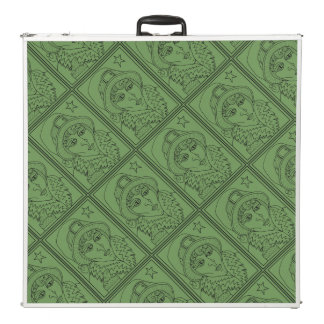 Masquerade Witch Frog Line Art Design Pong Table