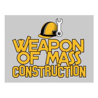 Mass Construction custom postcard