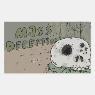 Mass Deception Skull Rectangular Sticker