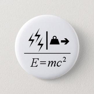 Mass–Energy Equivalence 6 Cm Round Badge