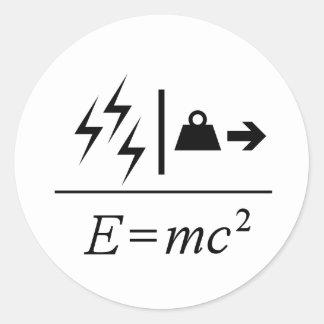 Mass–Energy Equivalence Round Sticker