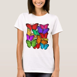 Mass of Brilliant Colored Butterflies T-Shirt