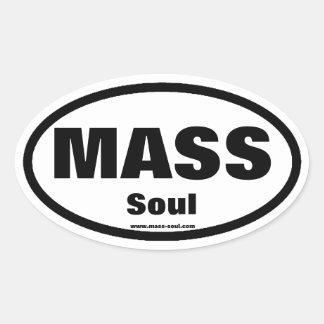 Mass soul Oval Sticker