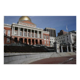 Mass State House Poster